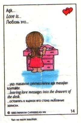Love is... оставлять в ящиках стола любовные записки